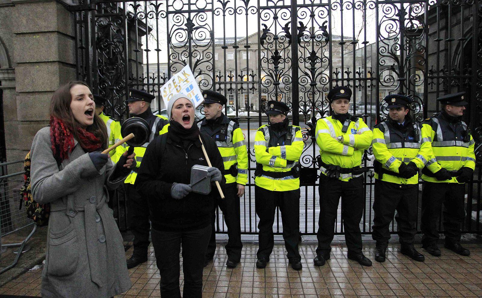 Proteste in Dublin