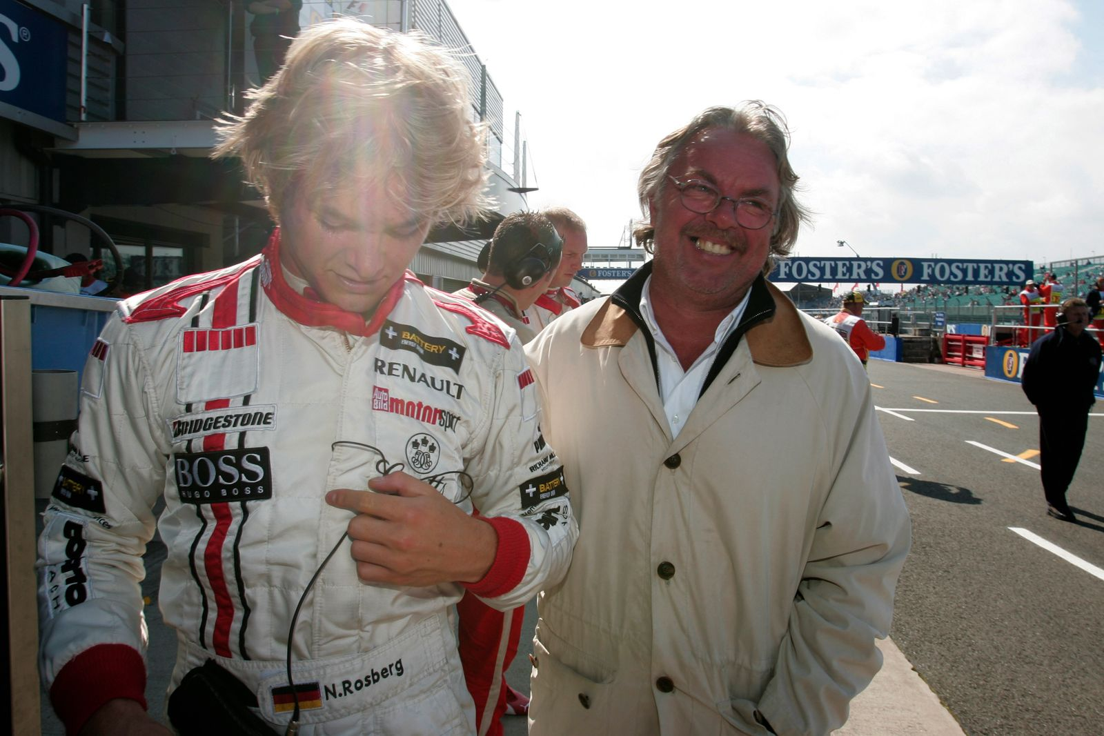 2005 GP2 Series - Great Britain Silverstone , England 8th - 10th July 2005 Friday Qualifying Keke Rosberg happy with hi