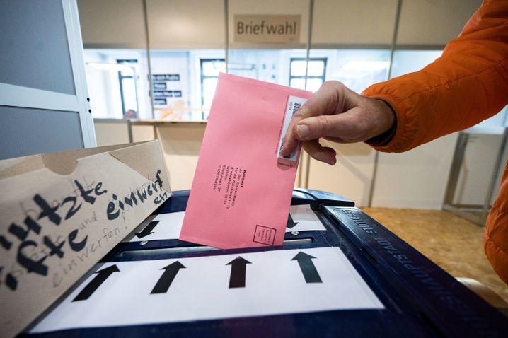 Wahlurne in Stuttgart