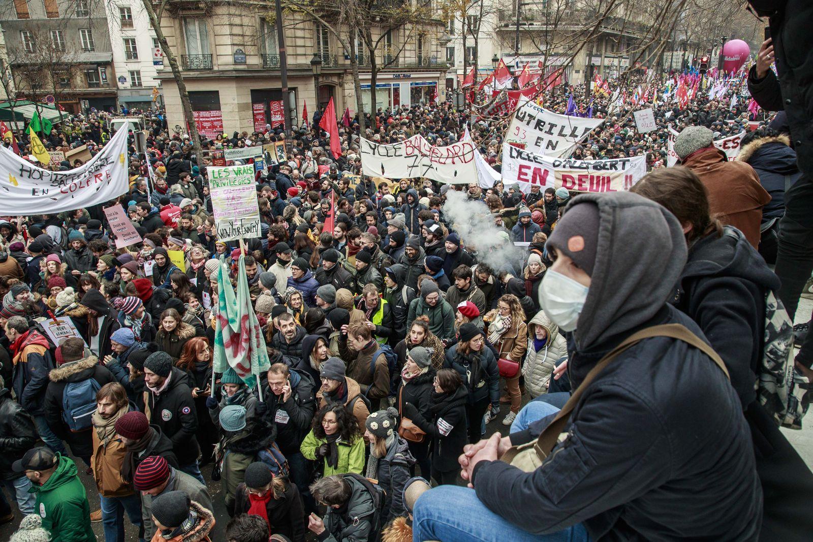 Streik/ Frankreich/ 2019/ Proteste/ Demonstrationen