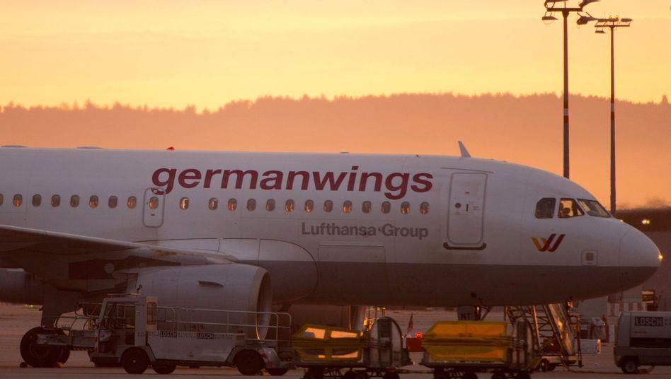 Germanwings-Flugzeug in Stuttgart: Größtes Vertrauen unter Billigfliegern
