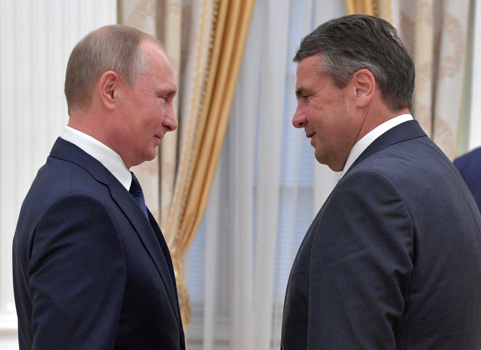 Wladimir Putin und Sigmar Gabriel