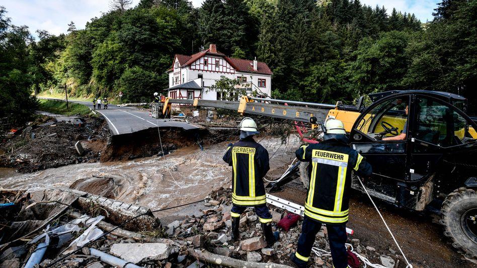 Gemeinde Schuld in Rheinland-Pfalz: Einsatz gegen die Fluten