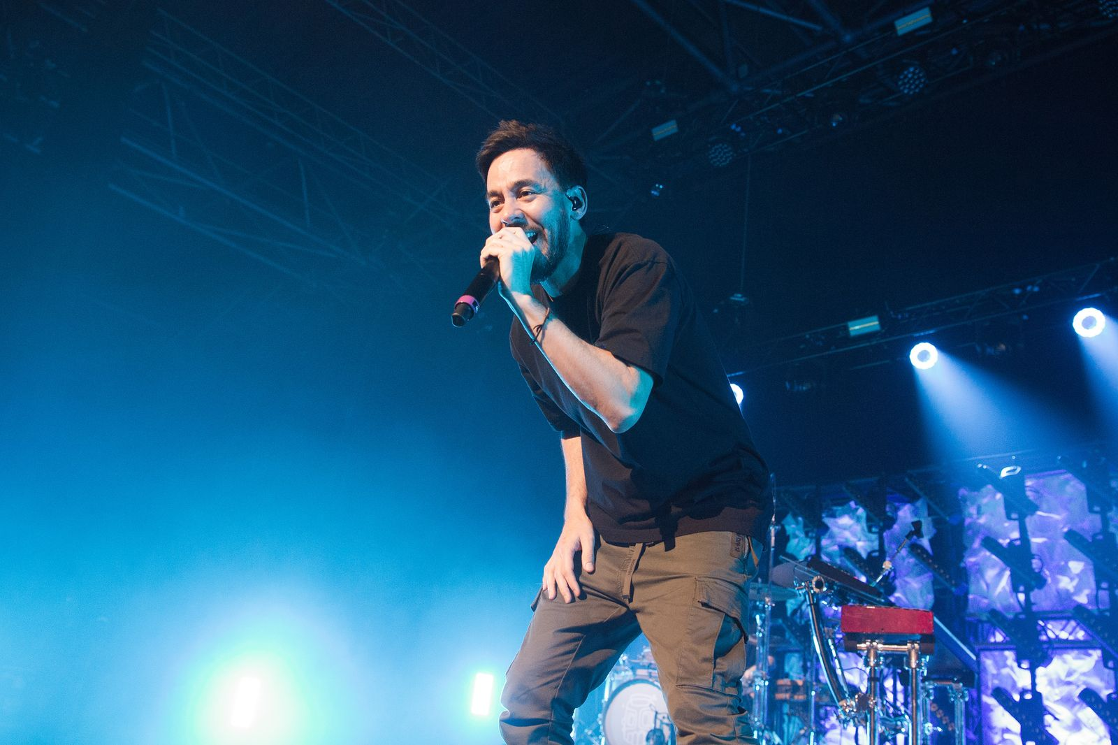 Mike Shinoda Performs At Le Zenith