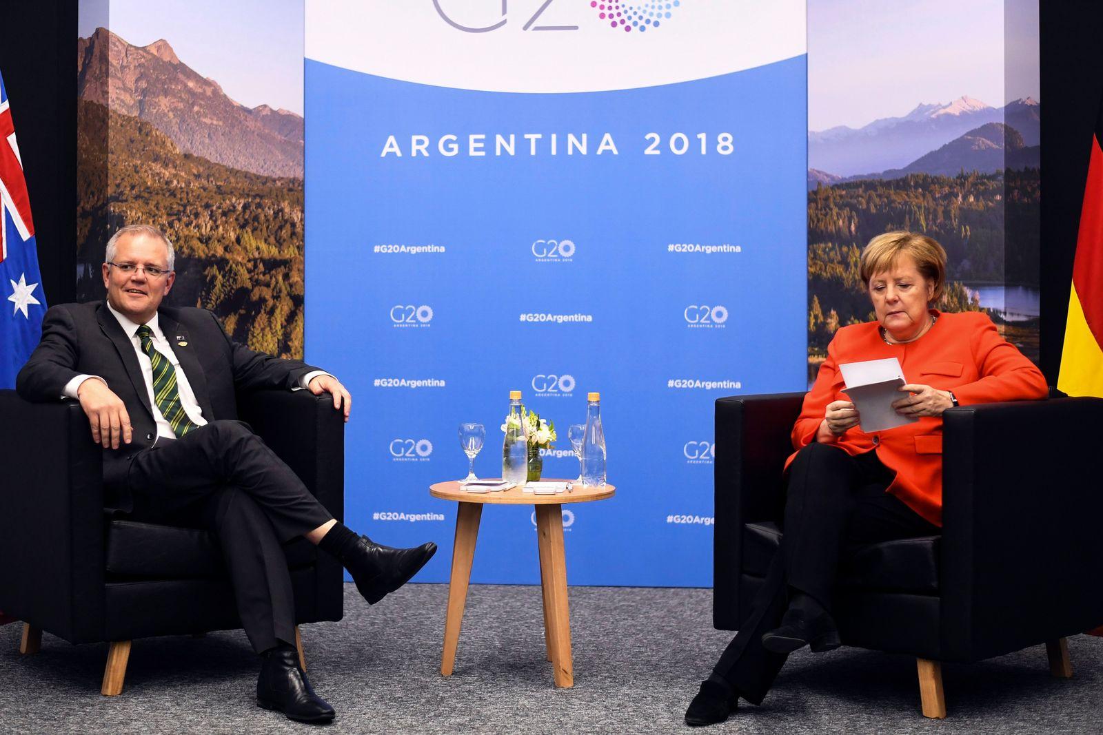 Scott Morrison Angela Merkel