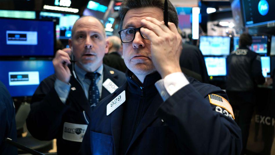 Grund zur Sorge: Börsenhändler in New York (Archivbild)