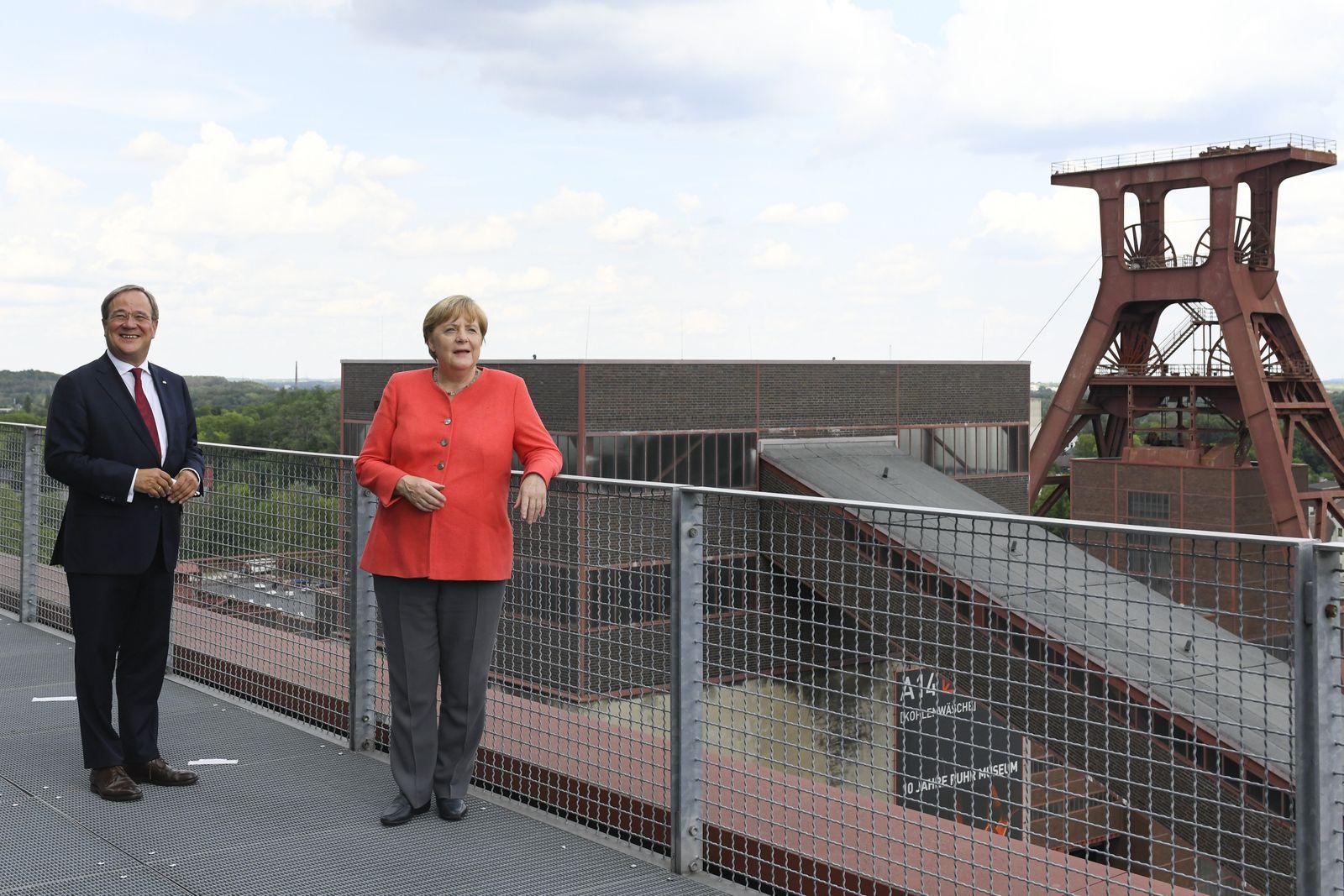 Merkel Visits North Rhine-Westphalia