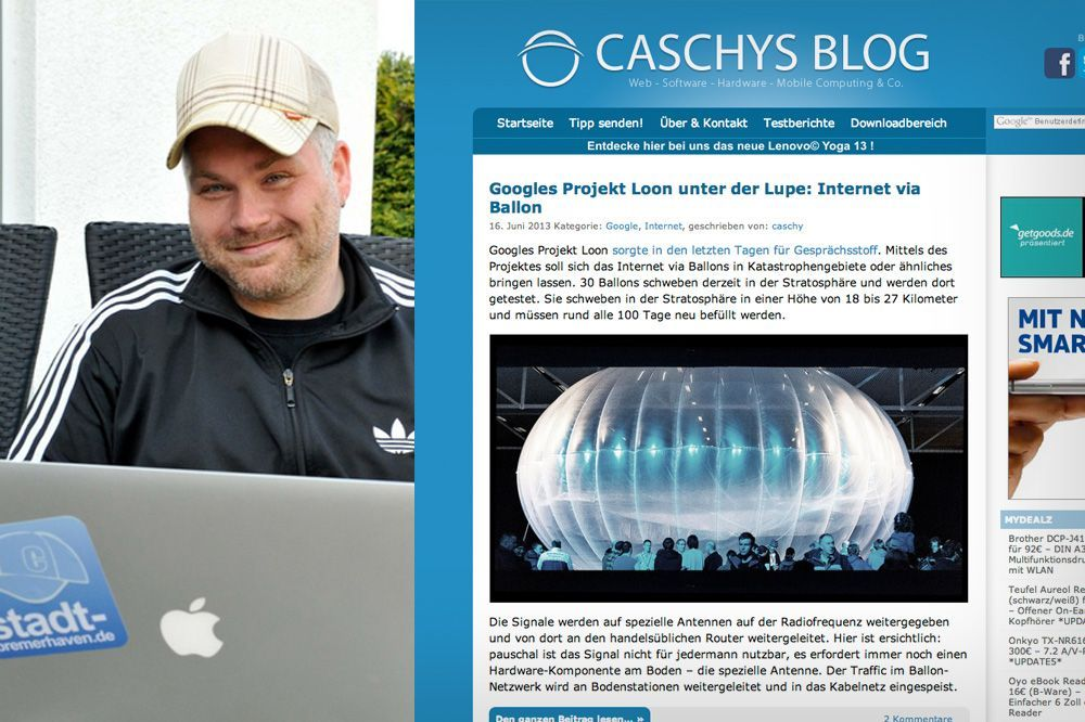 NUR ALS ZITAT Screenshot Blogger / 4_caschysblog