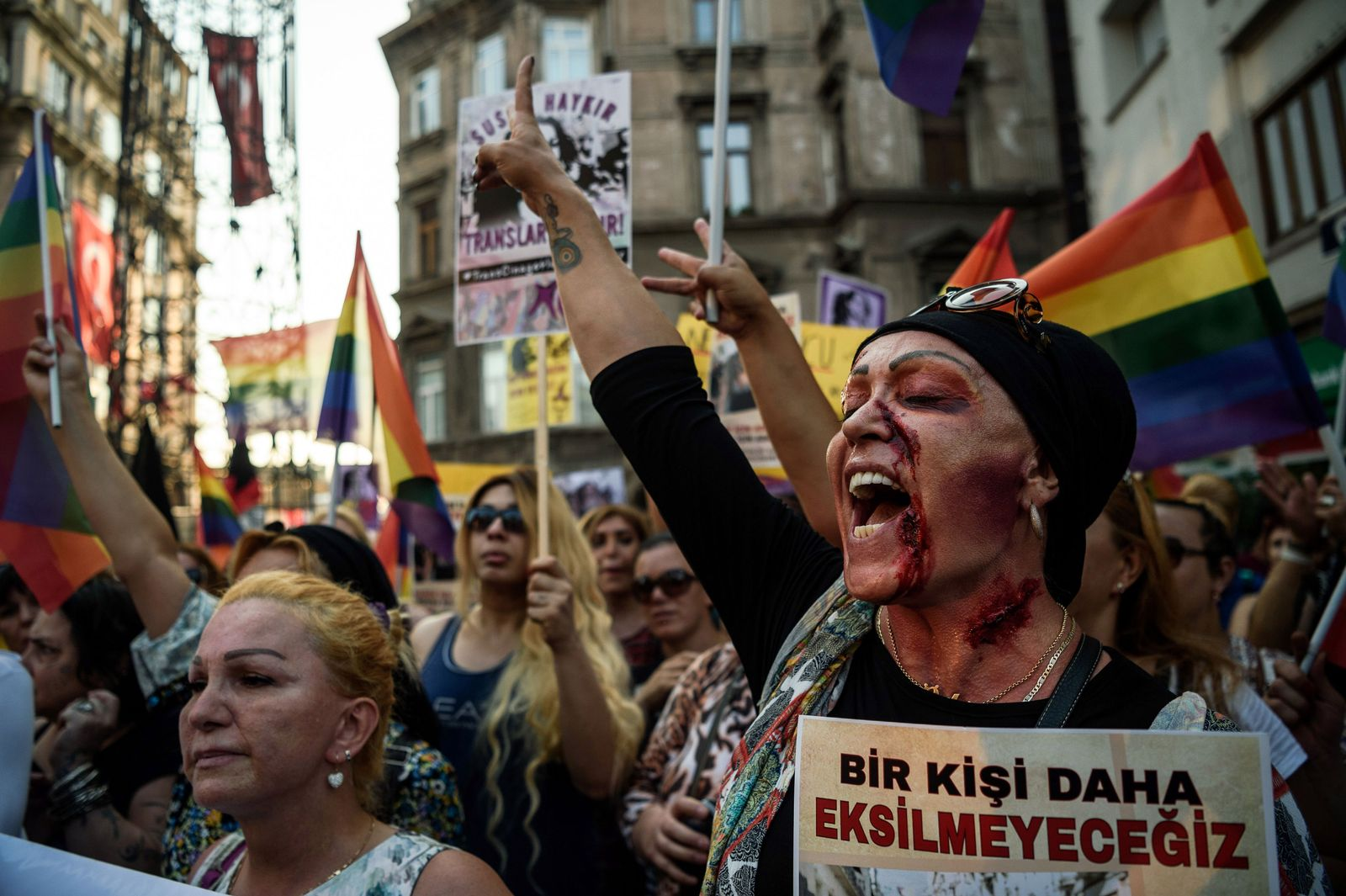 Istanbul: Demo Mord Transsexuelle Hande Kader
