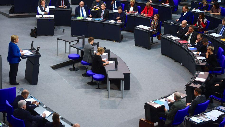 """Angela Merkel am 17. Oktober im Bundestag: """"Noch nicht absehbar"""""""
