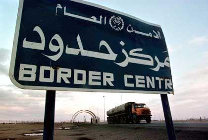 Jordanisch-irakische Grenze: Der Konvoi soll auf dem Weg nach Bagdad überfallen worden sein