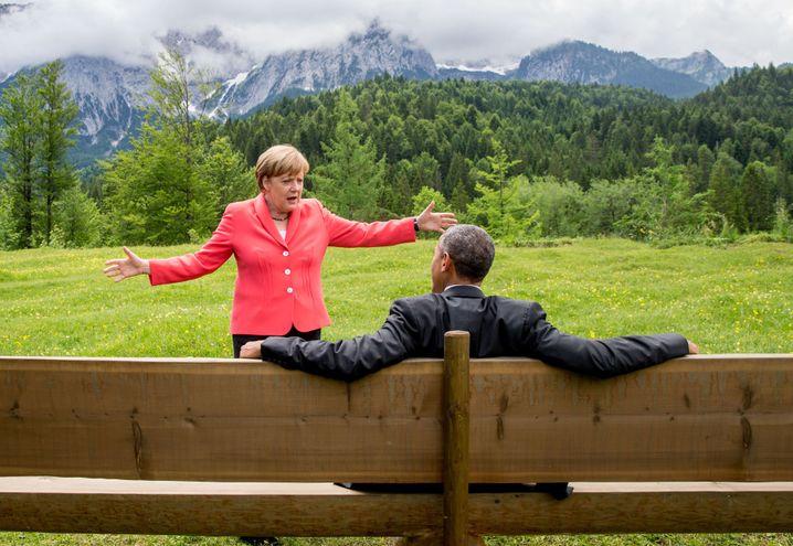 Merkel und Obama: So schön kann es sein, wenn kein Demonstrant die Stimmung trübt