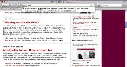 Such-Funktion: Im Firefox 3 können Nutzer das Vereichnis besuchter Seiten per Volltextsuche durchpflügen.