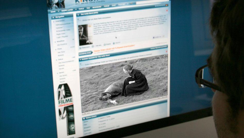 Screenshot von kino.to: Filehoster machte 630.000 Euro Umsatz