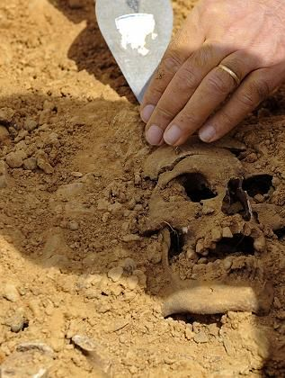 A number of groups in Spain are dedicated to finding Franco's victims. This image is from a dig by Emilio Silva's Association for the Recovery of Historical Memory.