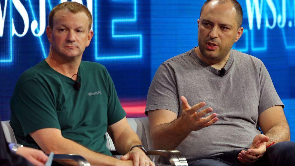 WhatsApp-Gründer Brian Acton und Jan Koum