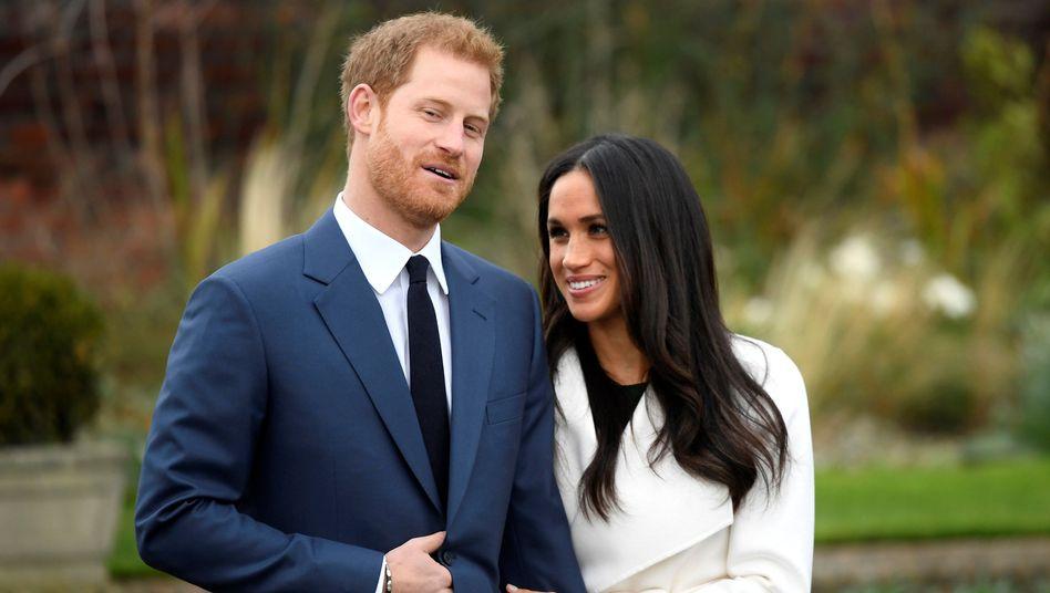 Prinz Harry und Herzogin Meghan im Garten des Kensington-Palastes (Archiv)