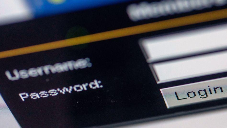 Passworteingabe (Symbolbild)