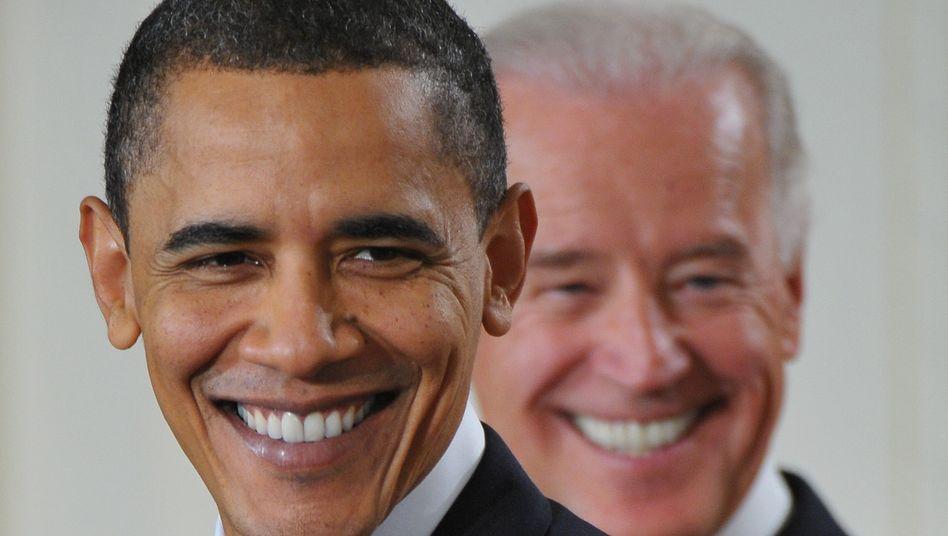 """Obama (mit Vizepräsident Biden): """"Eine neue Zeit für Amerika"""""""