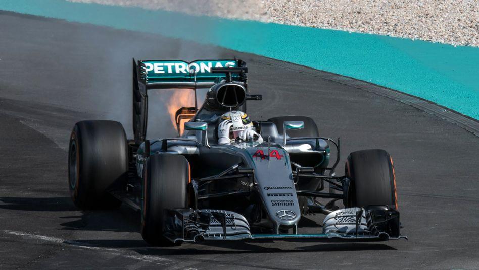 Lewis Hamiltons Aus in Malaysia