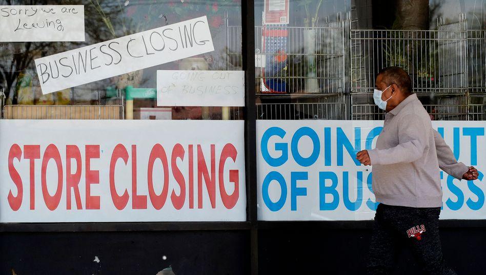 Wieder ein Geschäft dicht: Die Coronakrise ist anders als andere Krisen in den USA (Archivfoto)