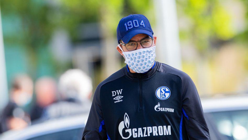 Schalke-Trainer David Wagner kann das Revierderby ohne Maske betrachten