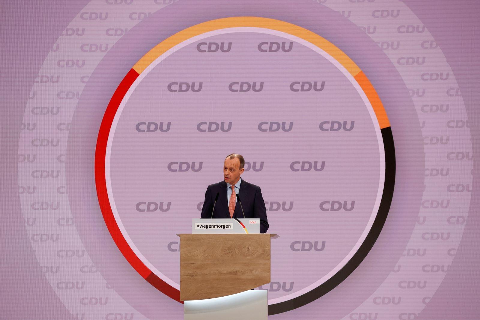 Christian Democratic Union (CDU) party's 33rd congress in Berlin