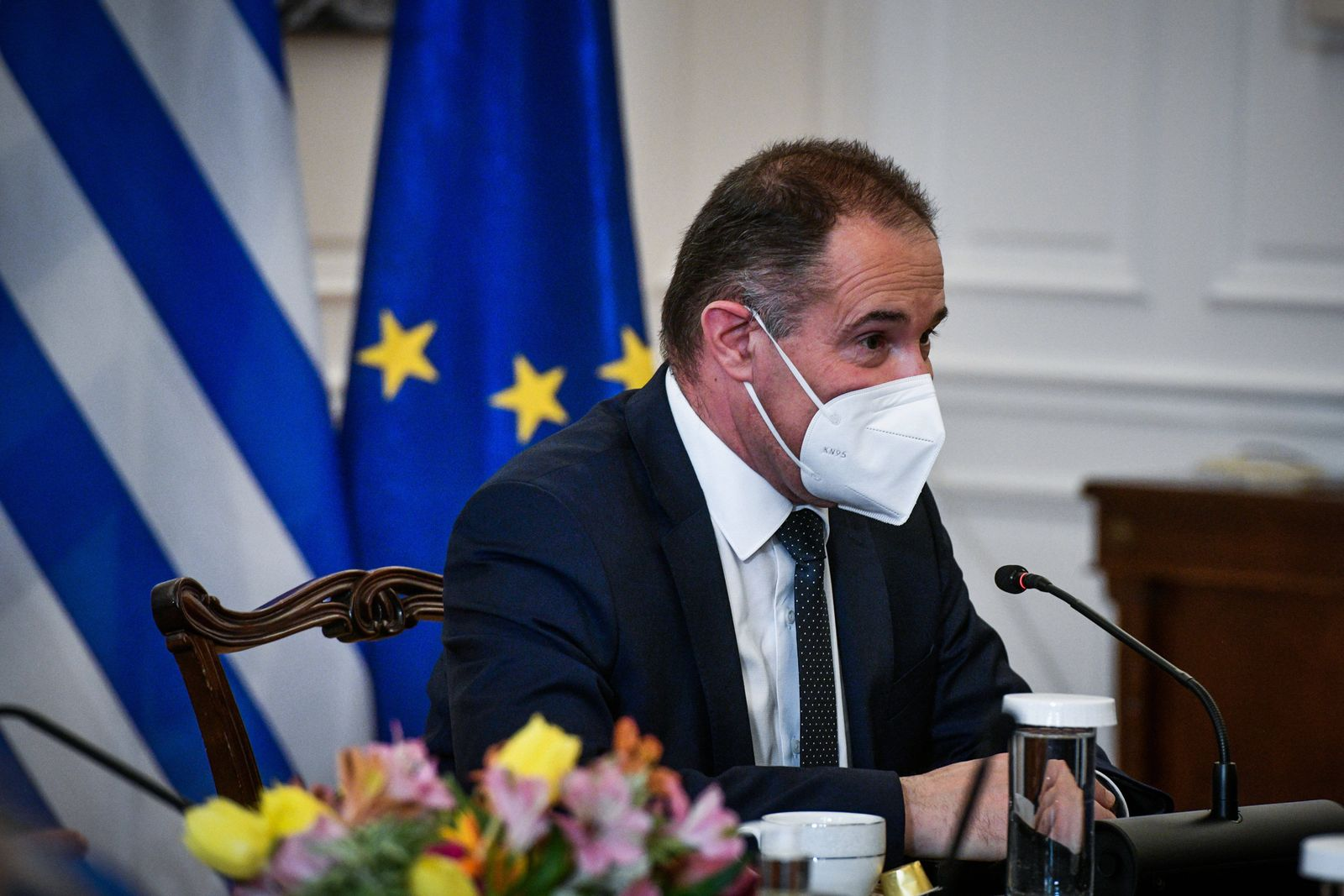Athen, Griechenland - Griechenland s Premierminister Kyriakos Mitsotakis trifft Fabrice Leggeri (im Bild), Direktor der