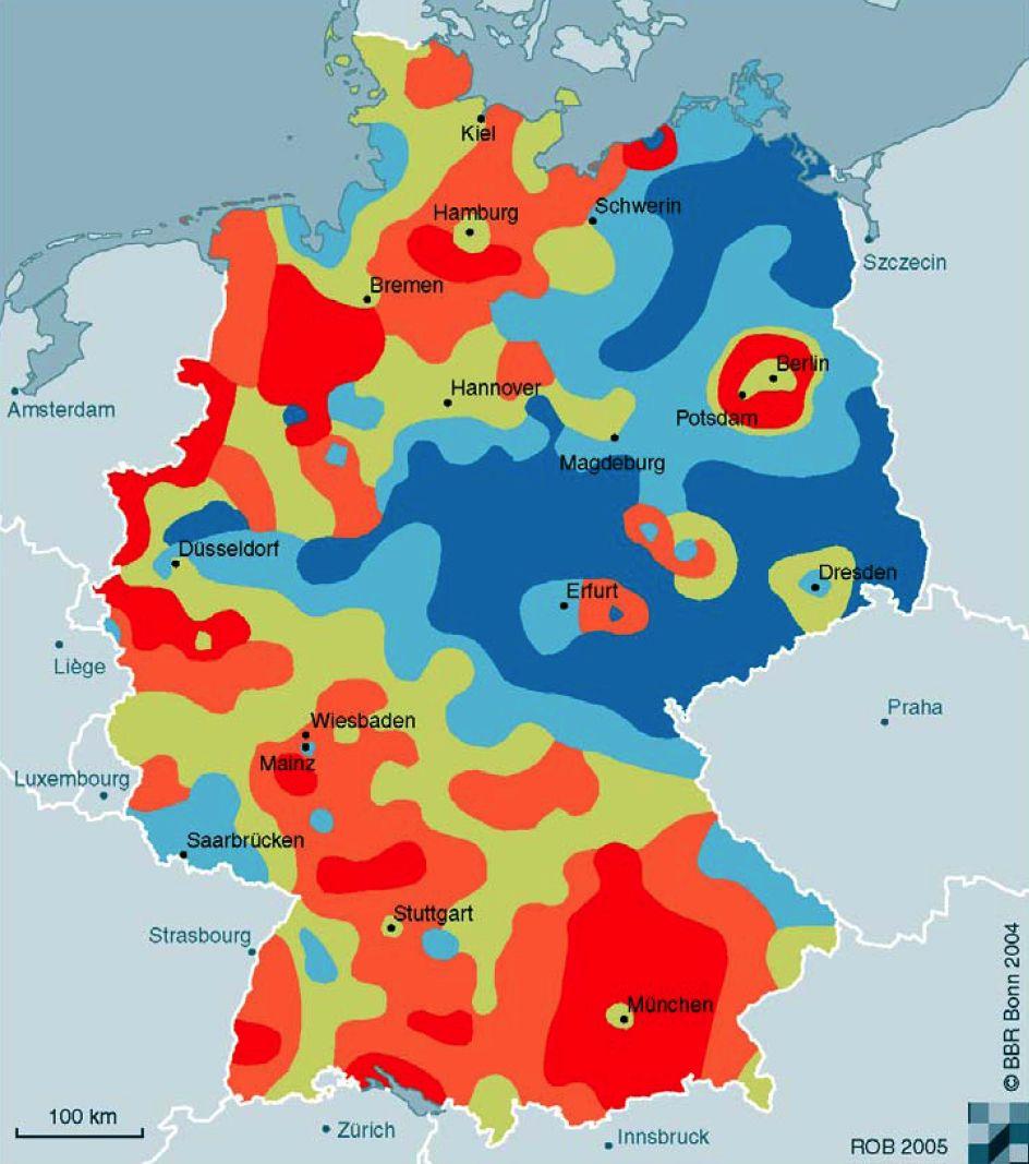 GRAFIK Trend Bevölkerungsentwicklung