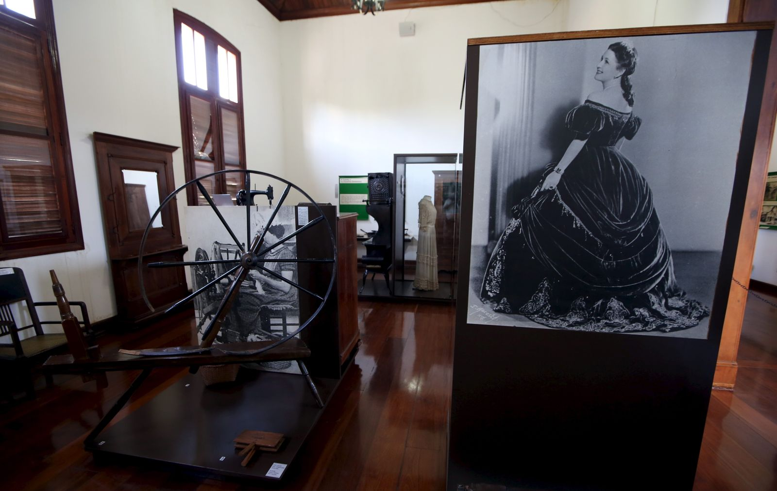 Belongings of American Southerner immigrants are seen at the Immigrants Museum in Santa Barbara D'Oeste, Brazil