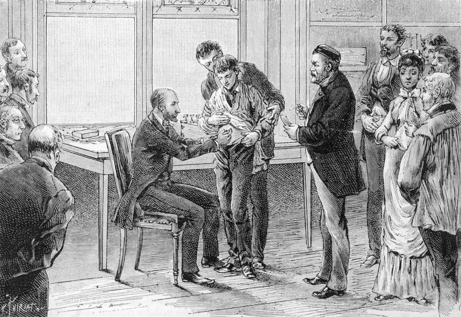 Louis Pasteur Inoculating Patients