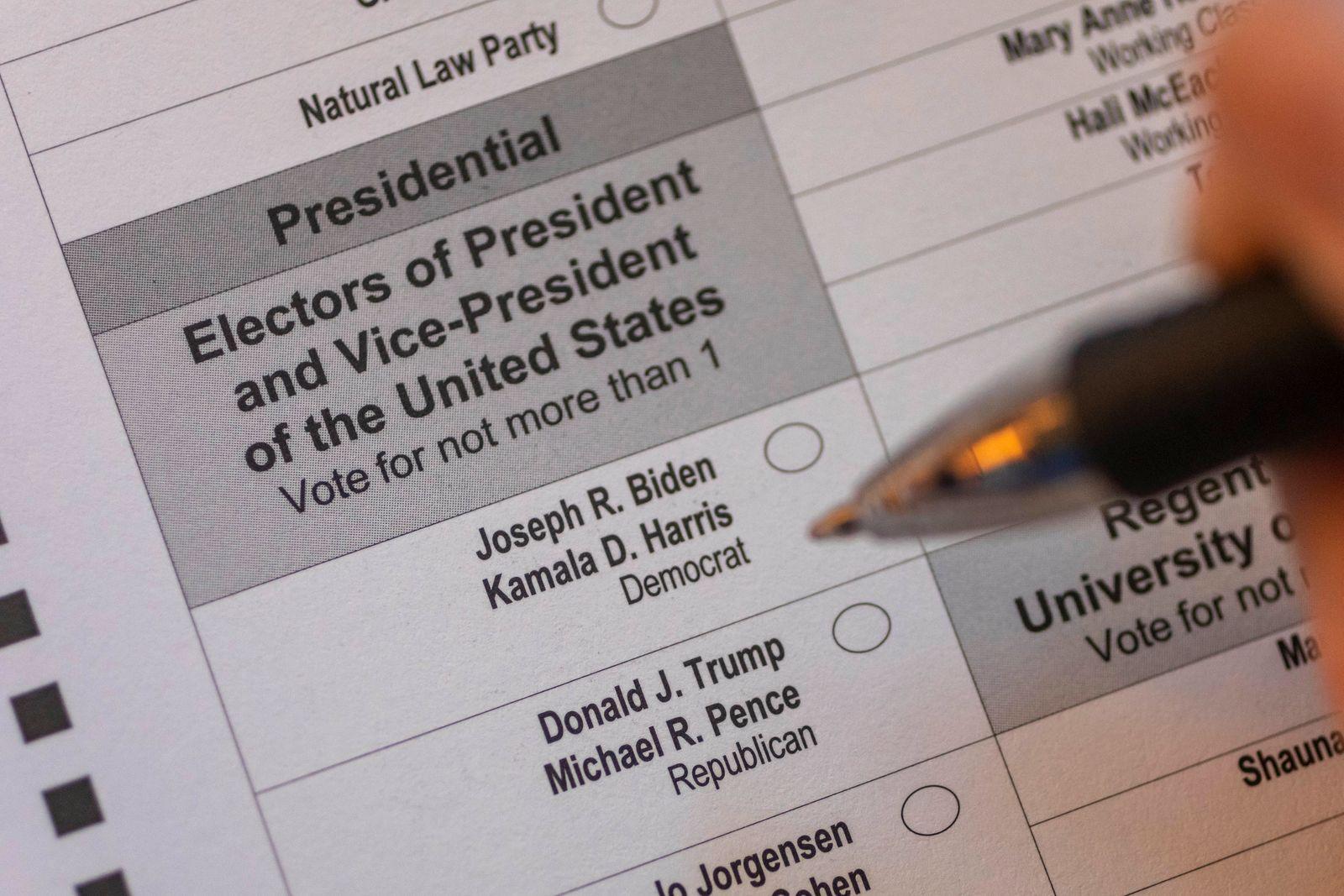 US-Wahlen - Stimmzettel
