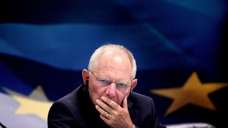 Wolfgang Schäuble in Athen: Haftungsrisiko für 122 statt 86 Milliarden Euro