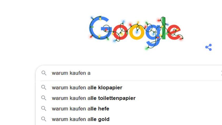 Populäre Google-Suche im Jahr 2020