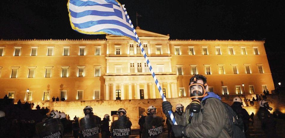 Proteste gegen Sparprogramm in Athen