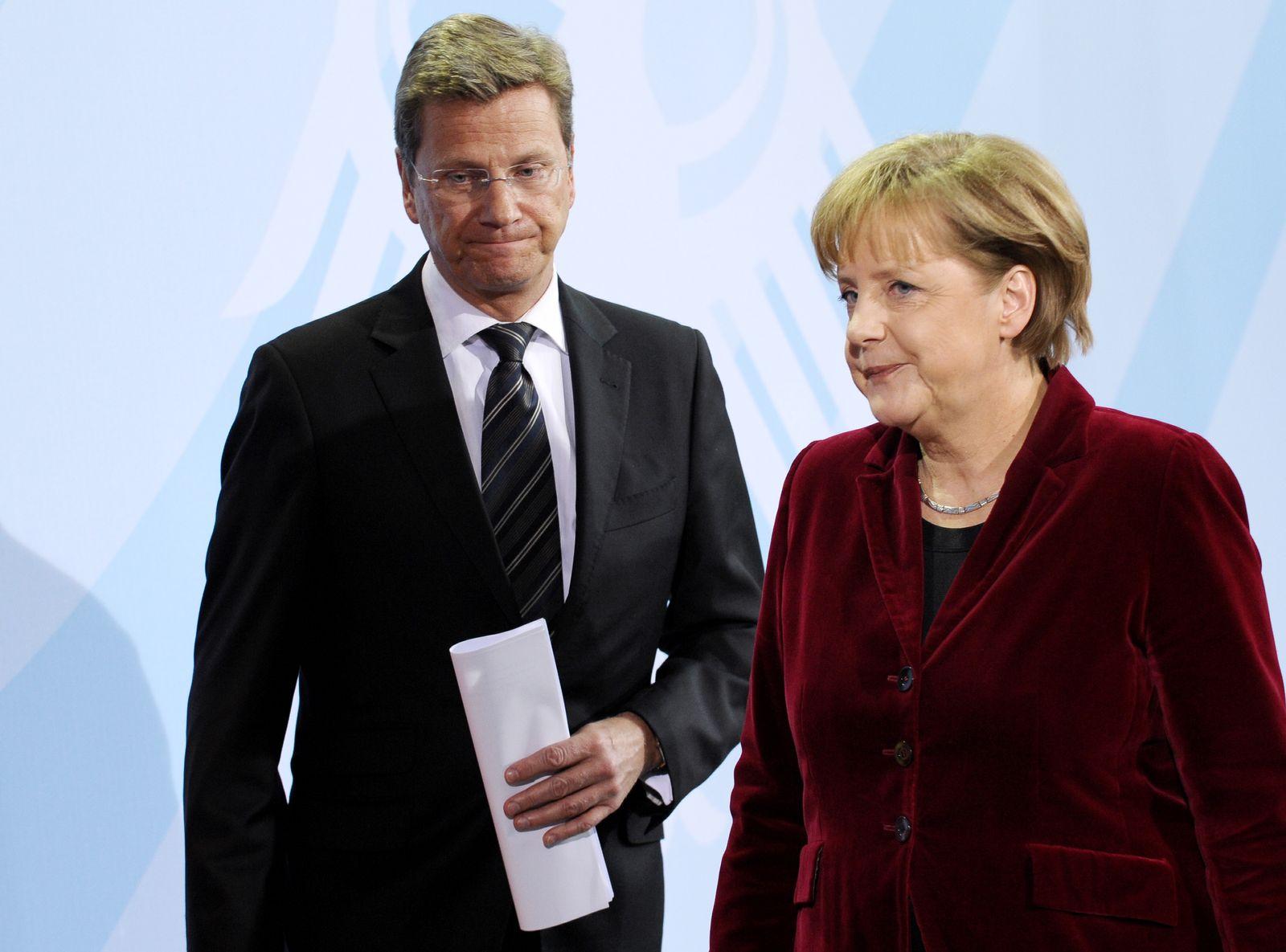 NICHT VERWENDEN Westerwelle Merkel