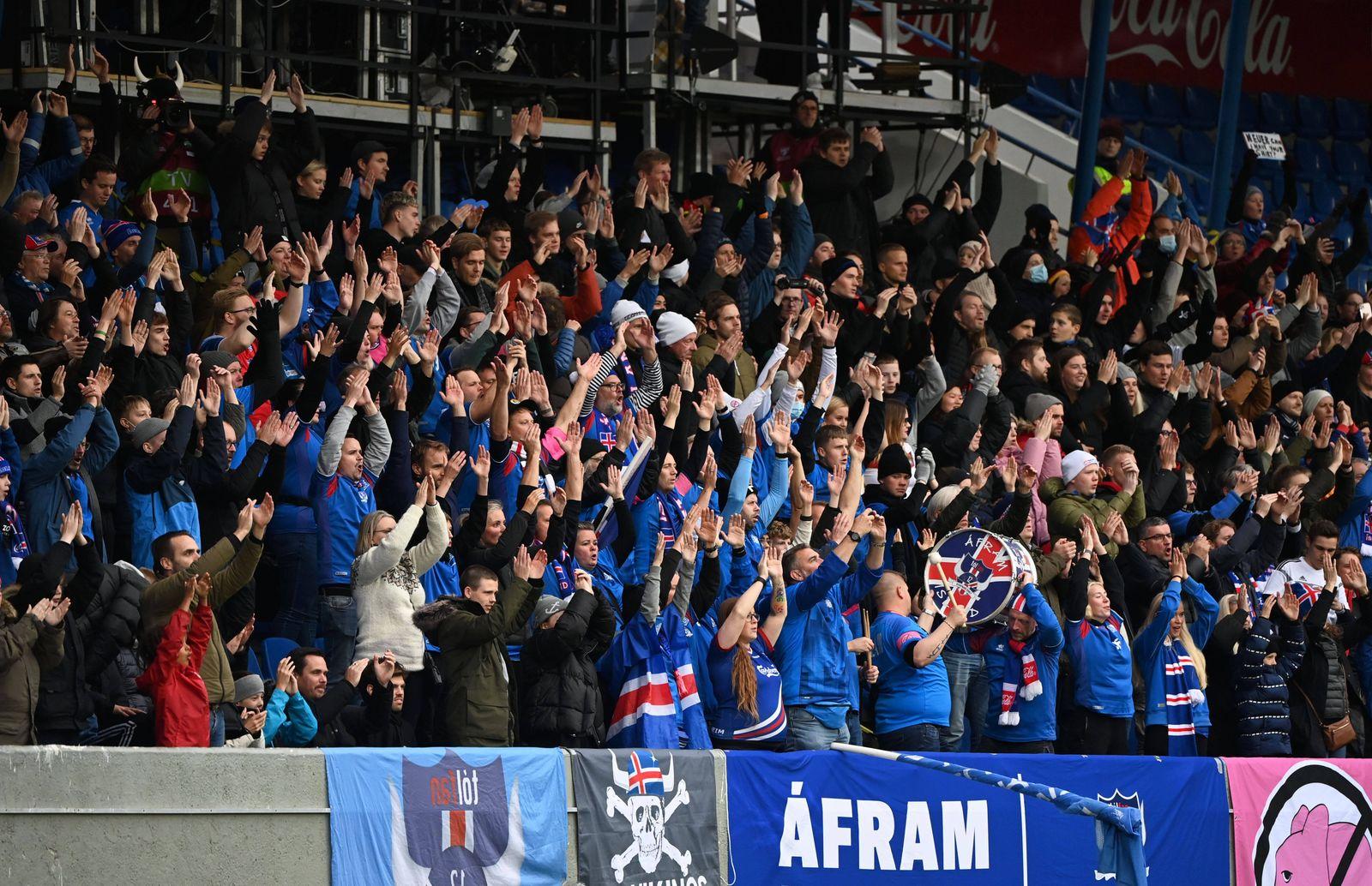 Fussball, Herren, Saison 2020/21, WM-Qualifikation (Gruppe J, 6. Spieltag) in Reykjavik, Island - Deutschland, Fans von