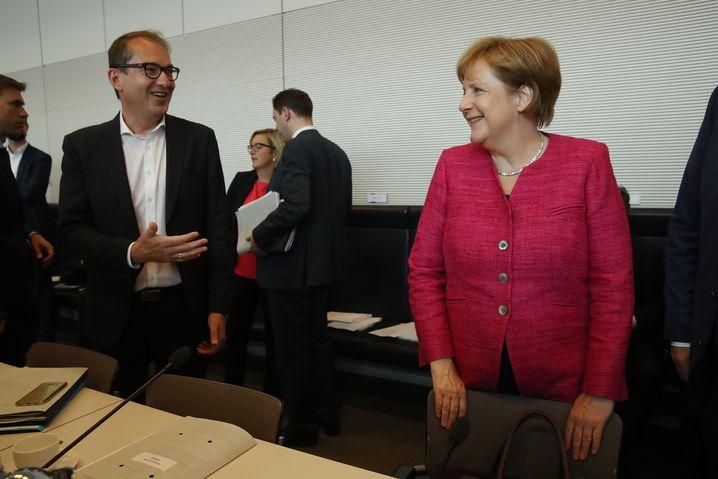 Dobrindt, Merkel