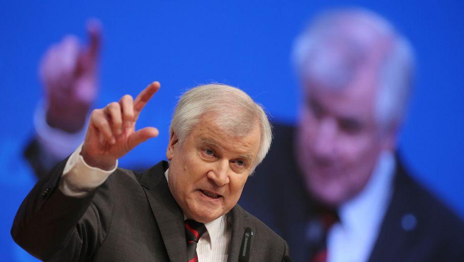 """CSU-Chef Seehofer (Archivfoto): """"Diese Zahl ist verkraftbar"""""""
