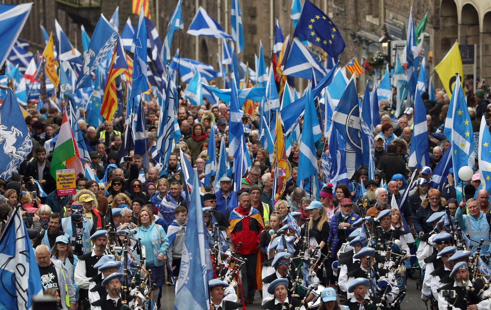 Edinburgh Demo für Unabhängigkeit