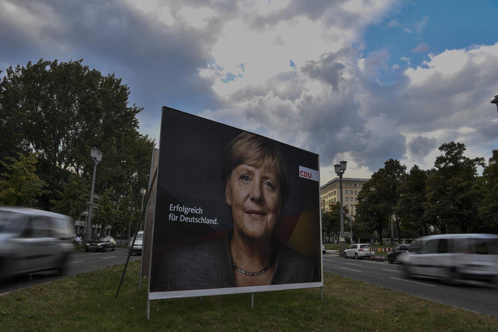 Angela Merkel / Bundestagswahl / Wahlplakat