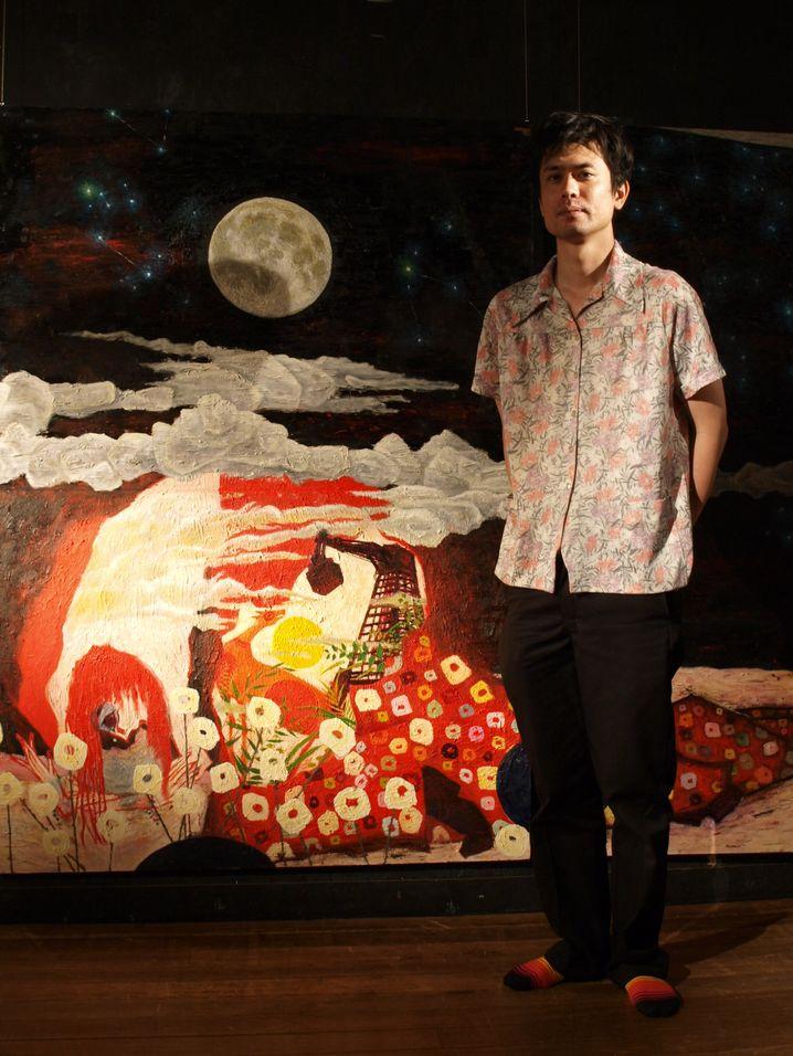 Maler Akira Tsuboi: Atelier im Wohnzimmer der Eltern