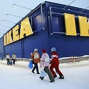 An IKEA store in Sweden: People trust the furniture maker more than the church.