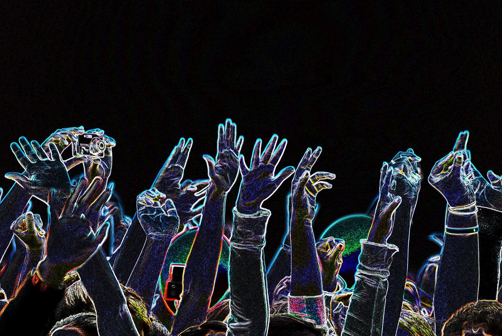 Hands Up black background