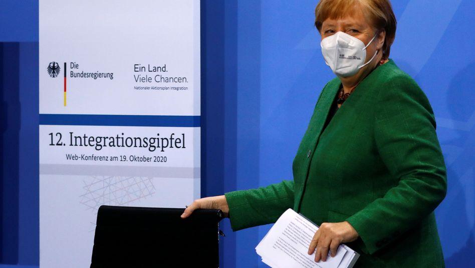Bundeskanzlerin Angela Merkel beim Integrationsgipfel