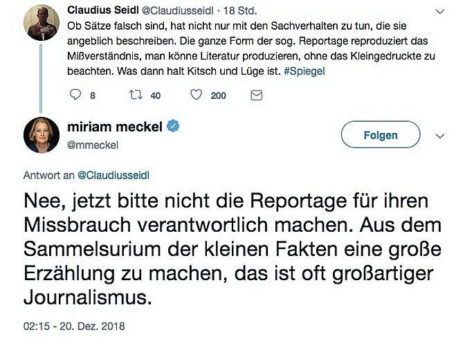 SPIEGEL 52/2018 Relotius / Twitter Seidl Meckl