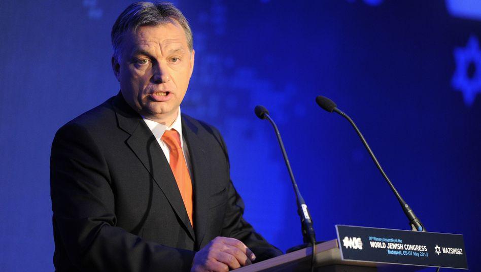 """Ungarns Premier Orbán bei seiner WJC-Rede: """"Ungerechte EU"""""""