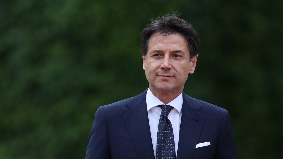 Italiens Ministerpräsident Giuseppe Contebleibt
