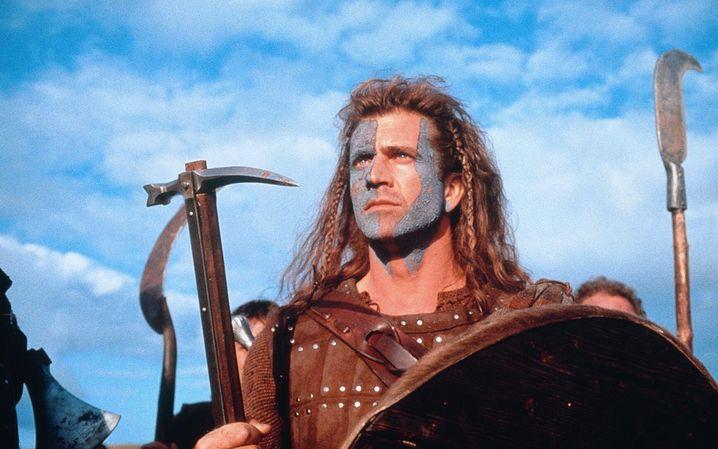 """Pathos, Blut und blaue Augen: Als Regisseur und Hauptdarsteller tobt sich Mel Gibson in """"Braveheart"""" so richtig aus"""