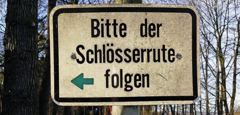 Schild in Münster-Hiltrup